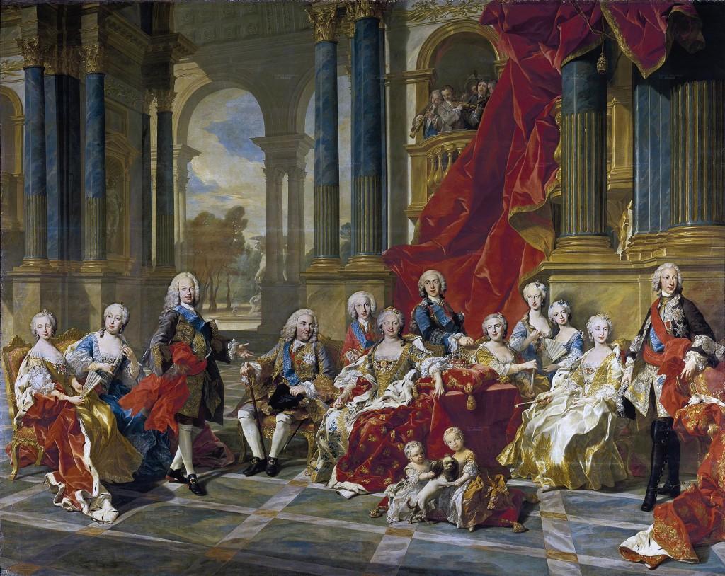 La Familia Felipe V, Van Loo. © Museo del Prado.