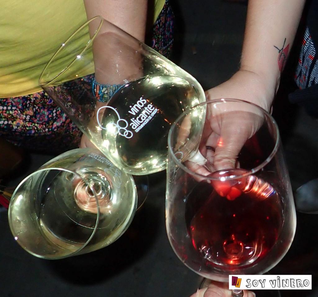 Copas en el Winecanting Summer Festival 2015.