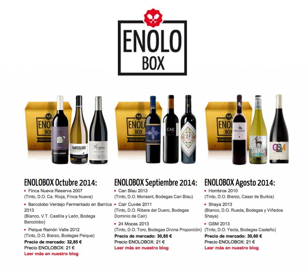 Propuestas ENOLOBOX en 2014.