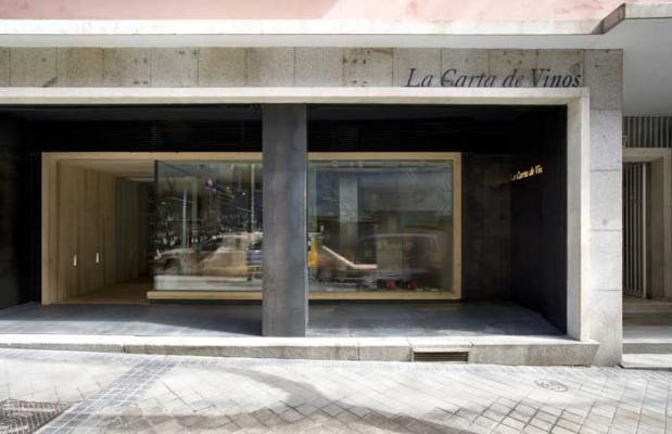 Fachada La Carta de Vinos en Madrid.
