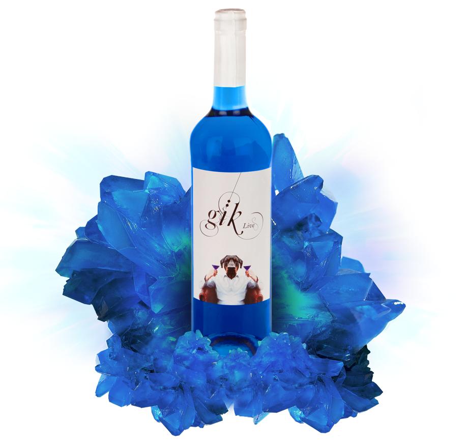 Gïk, el vino azul.