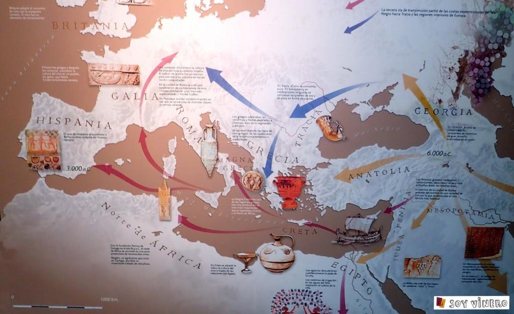 Expansión del vino en Europa. Museo Vivanco de la Cultura del Vino.
