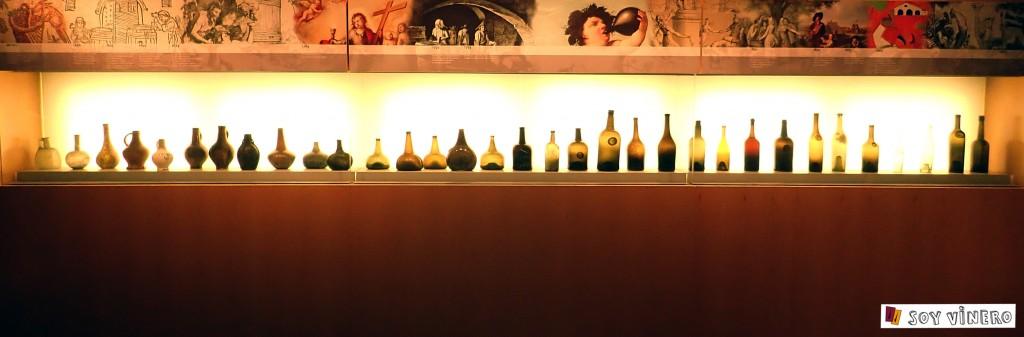 Evolución de la botella. Museo Vivanco de la Cultura del Vino.