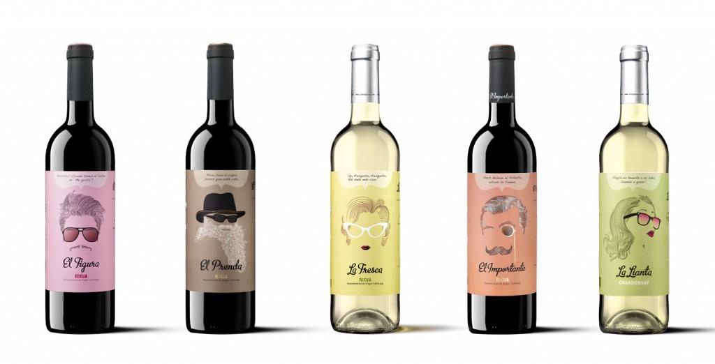 Colección de vinos de bodegas Siete Pasos.