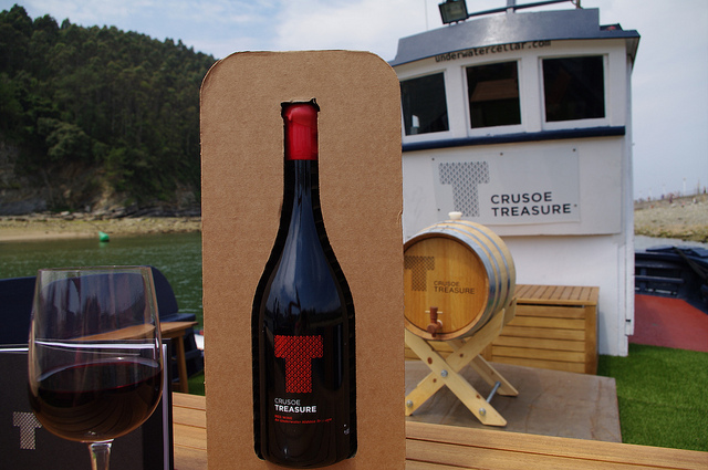 Bodega submarina Crusoe Tresoure. Foto: Crusoe Treasure.
