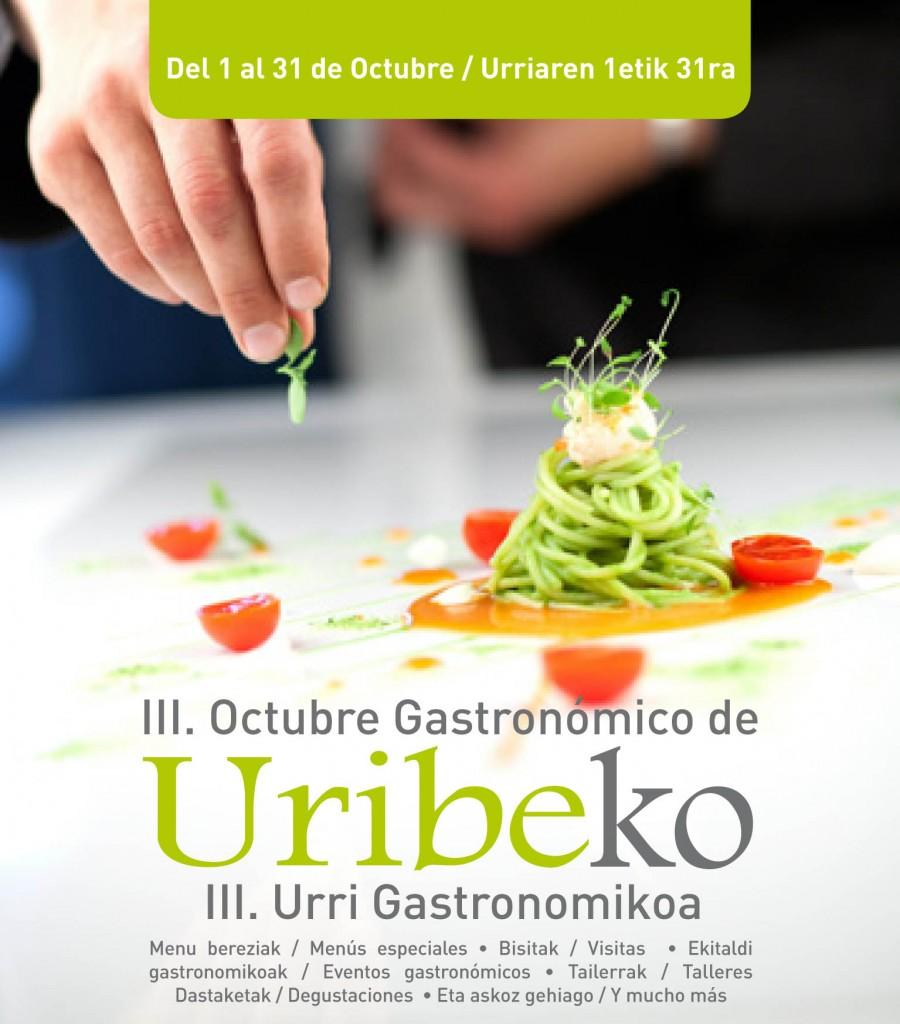 Cartel Octubre Gastronómico de Uribe 2015.