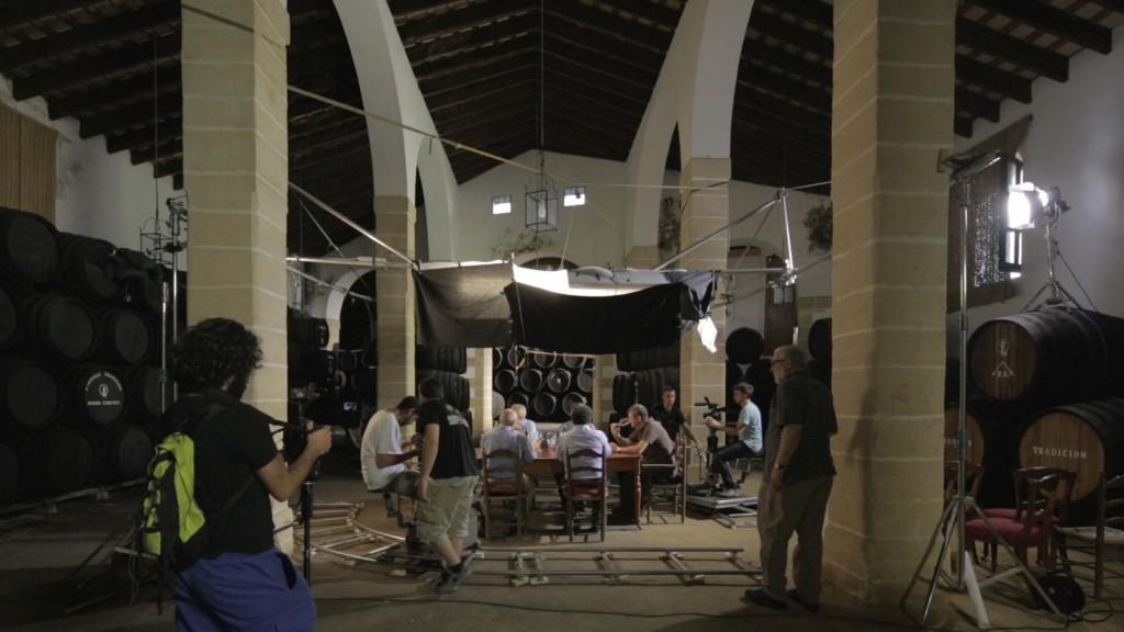 Rodaje 'Jerez y el misterio del Palo Cortado' dirigido por José Luis López-Linares.