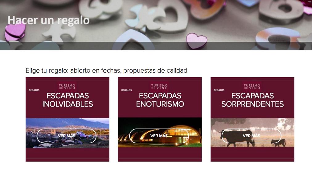 """La opción """"regalar"""" también es posible en www.turismodevino.com"""