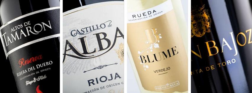 Variedad de vinos de Bodegas Pagos del Rey.