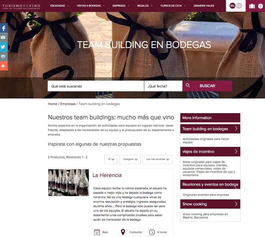 """Categoría """"Empresas"""" en www.turismodevino.com"""