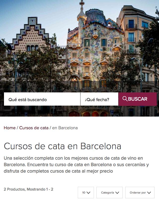 Cursos de cata en Barcelona. www.turismodevino.com