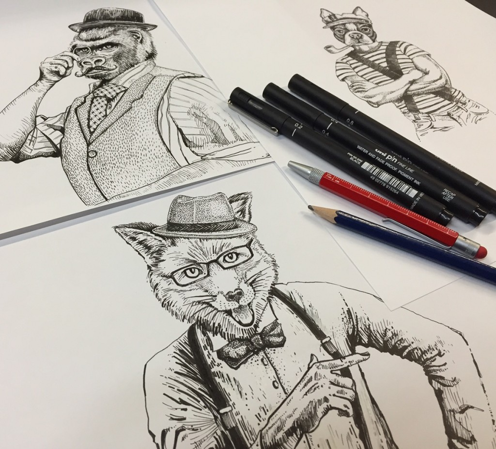 Ilustraciones de Miguel Ángel Hernández para Cappo de bodegas Carrión.