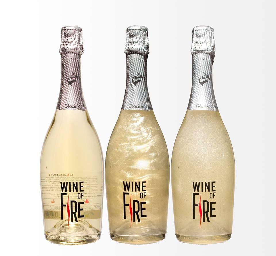 Wine of Fire-Glaciar. Mueve la botella y comprueba su efecto.