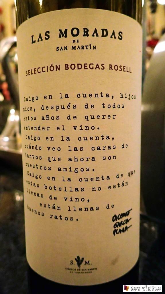 Bodega Las Moradas de San Martín. D.O. Vinos de Madrid.