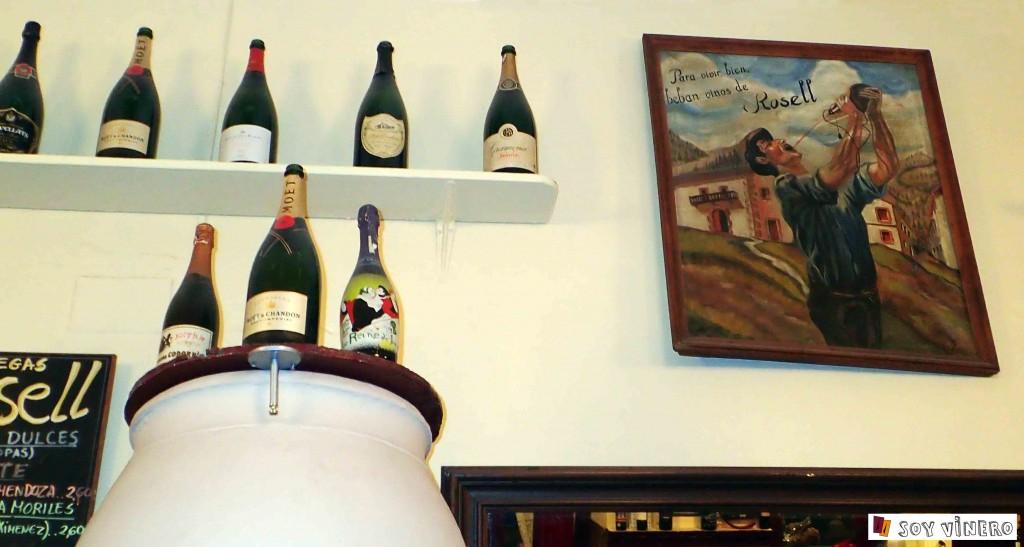 """""""Para beber bien beba vinos de Rosell""""."""