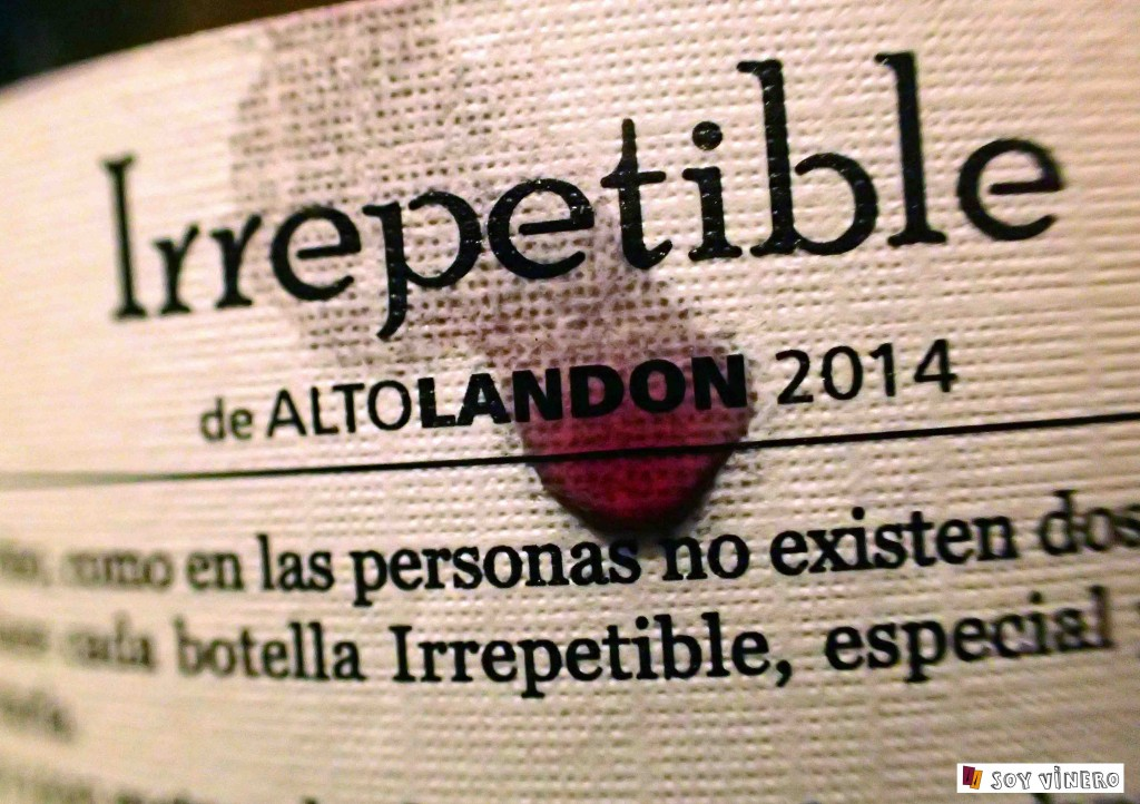 Irrepetible de bodegas Altolandon.