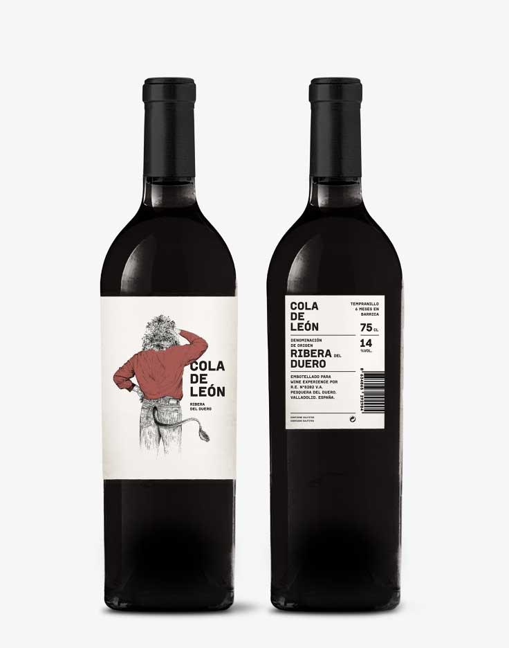 Vino tinto Cola León, embotellado para Wine Experience.