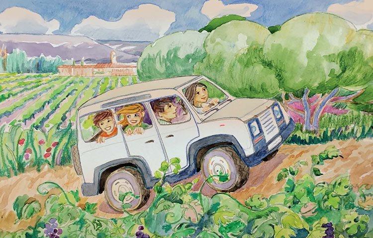 La aventura del vino ilustrado por María Rubio.