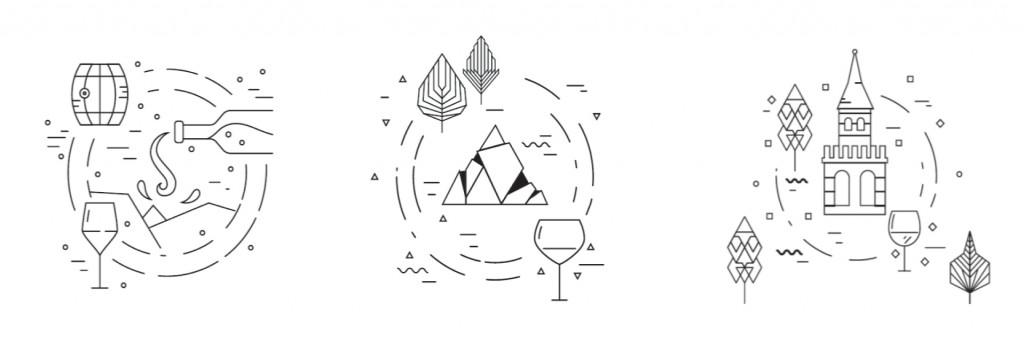 Recursos gráficos aplicados al Bus del Vino de Somontano.