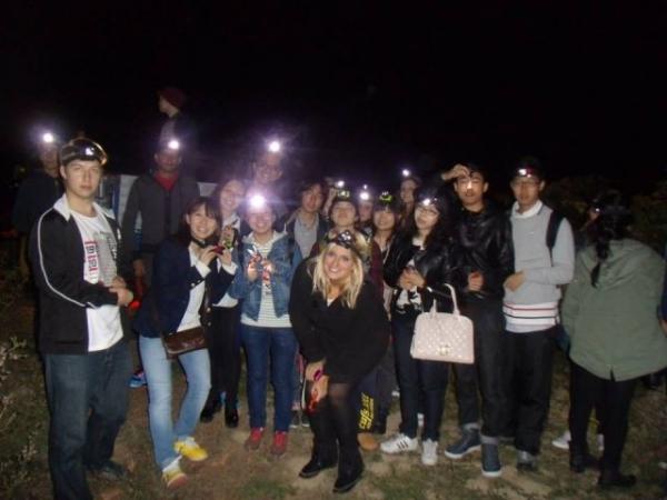 "Participantes de la ""Vendimia Nocturna"". Bodega Pagos de Leza"