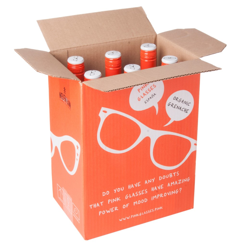 Caja de seis botellas 'Pink Glasses'.