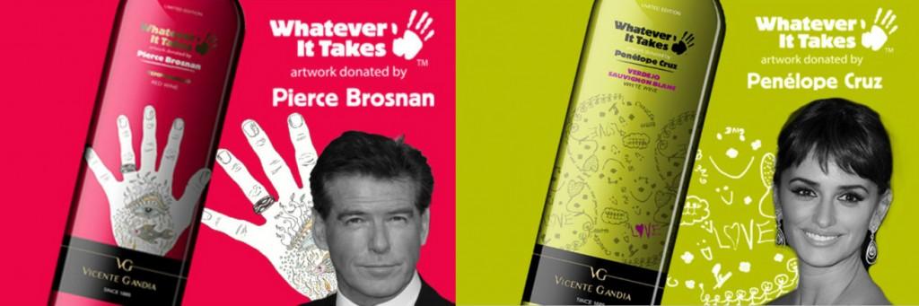 Vinos Pierce Brosnan y Penélope Cruz en 'Famous Wine Festival'.