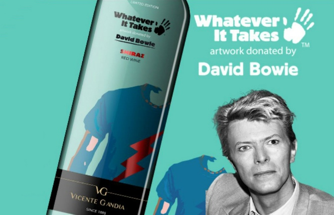Vino David Bowie de la colección solidaria de Bodegas Vicente Gandía.