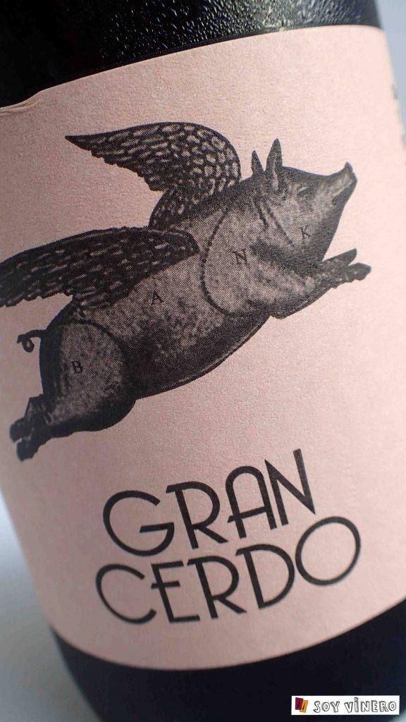 Vino tinto, tempranillo y graciano, 'Gran Cerdo'.
