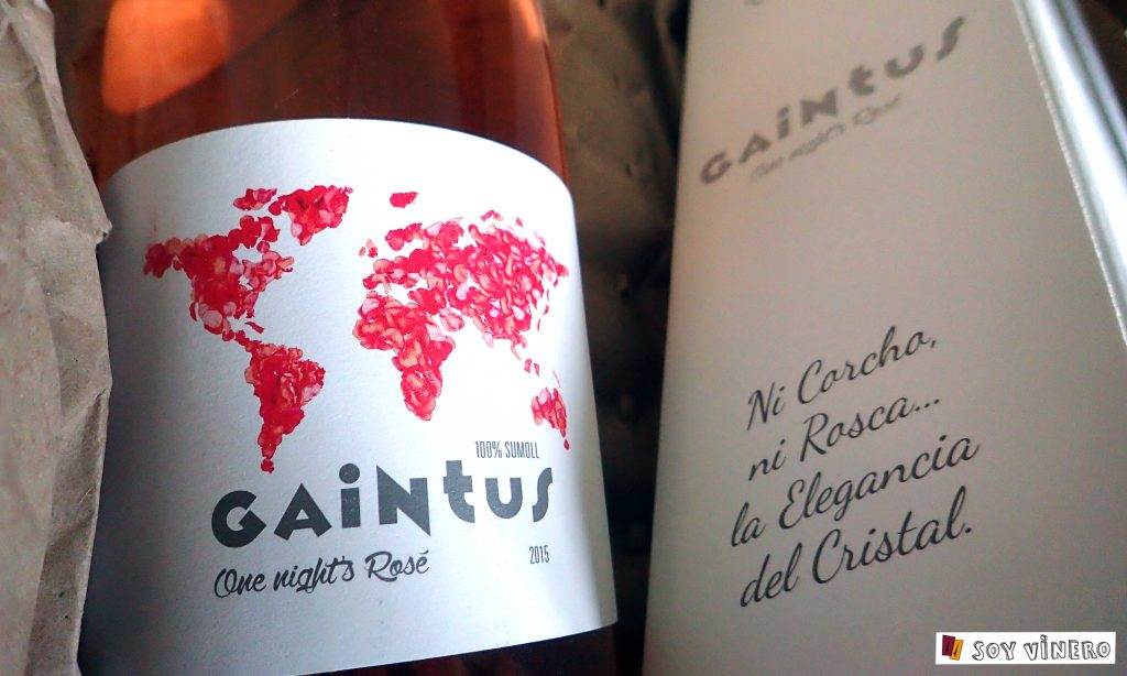 Gaintus One Night's Rosé 2015. Heretat de MontRubí.