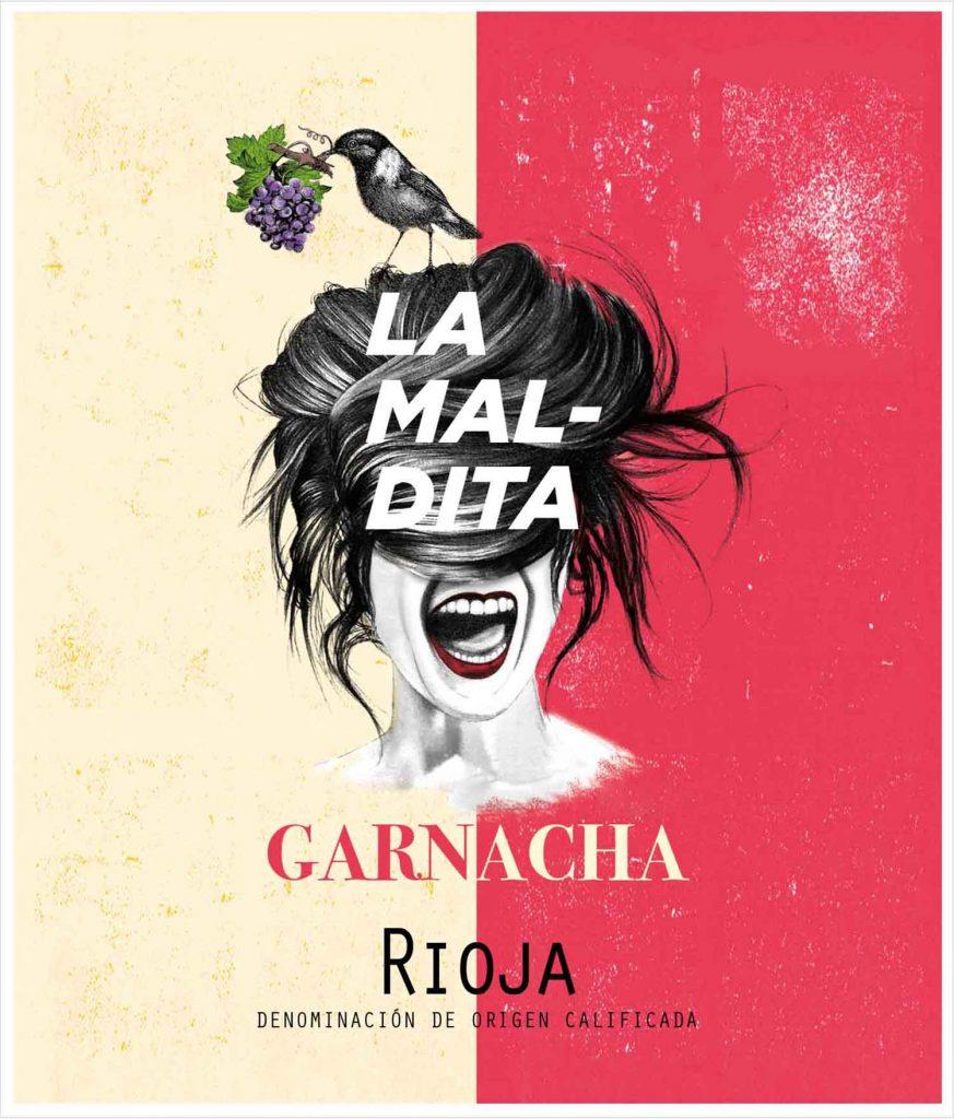 'La Maldita Garnacha', diseño de 'Calcco. Comunicación Visual.