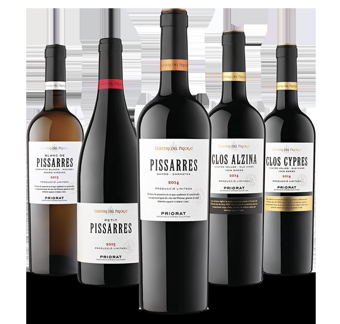 Variedad de vinos de 'Costers del Priorat'.