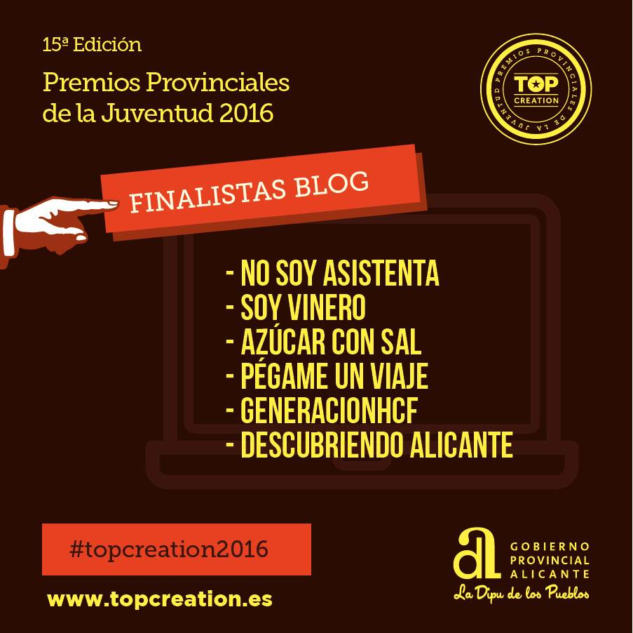 Finalistas 'Top Creation 2016': blog.
