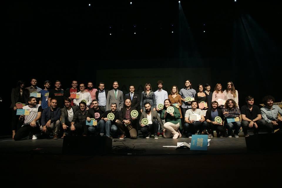 Foto de familia premiados 'Top Creation 2016'.