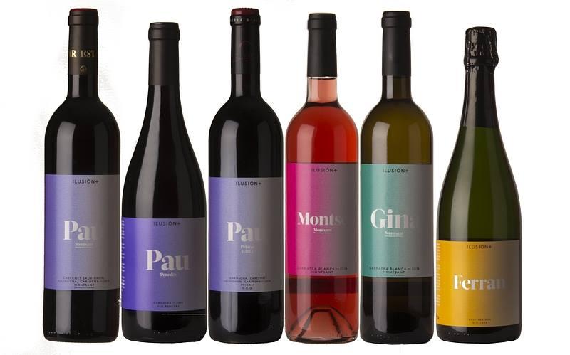 La familia de vinos ILUSION+ al completo.