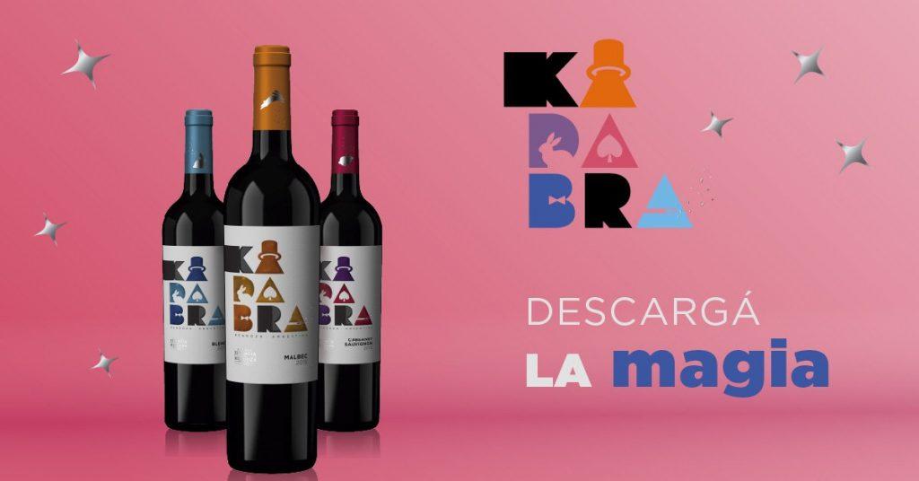 Vinos 'Kadabra' de bodegas Estancia Mendoza, Argentina.