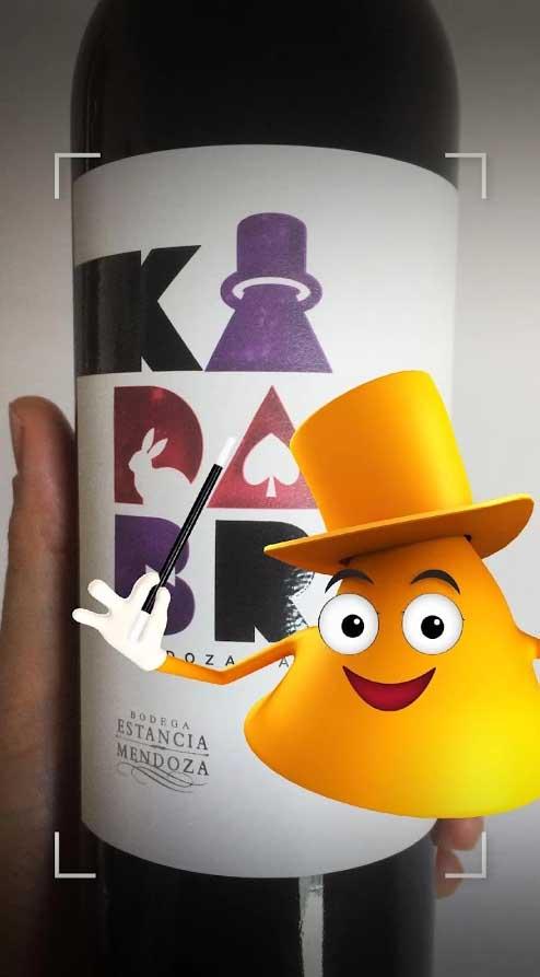 El simpático personaje de la realidad aumentada de 'Kadabra'.