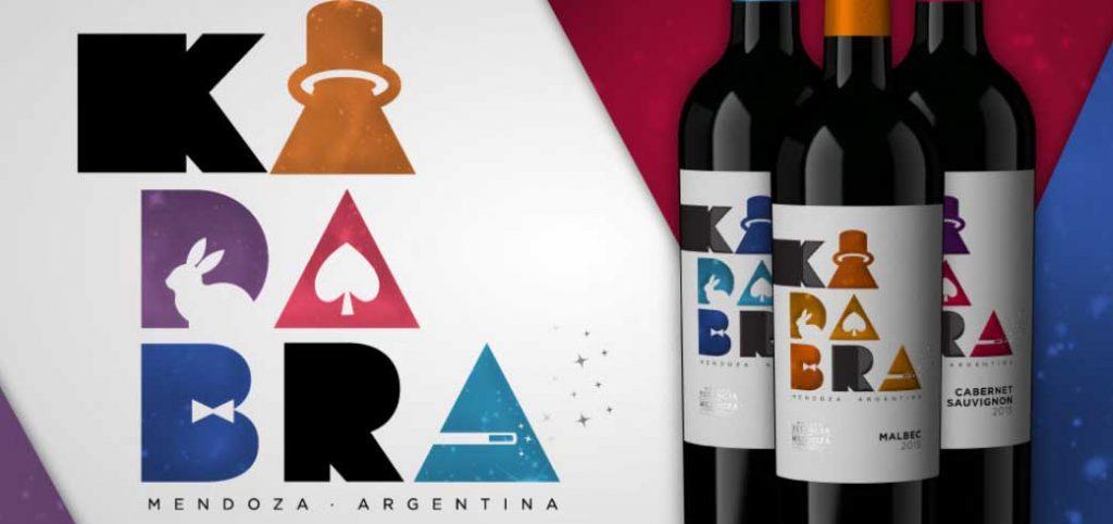 Los tres vinos 'Kadabra' de bodegas Estancia Mendoza, Argentina.